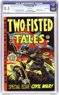 Golden Age (1938-1955):War, Two-Fisted Tales #35 Gaines File pedigree 6/11 (EC, 1953) CGC VF+8.5 White pages. Here's the third installment of writer/ed...