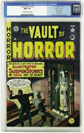 Golden Age (1938-1955):Horror, Vault of Horror #13 Gaines File pedigree (EC, 1950) CGC NM+ 9.6Off-white to white pages. The dead walk again on this second...