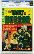 Golden Age (1938-1955):Horror, Vault of Horror #14 Gaines File pedigree 3/9 (EC, 1950) CGC NM 9.4Off-white to white pages. This is an excellent copy of an...