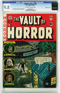 Golden Age (1938-1955):Horror, Vault of Horror #21 Gaines File pedigree 2/12 (EC, 1951) CGC NM/MT9.8 Off-white to white pages. The good news is, despite J...