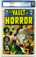 Golden Age (1938-1955):Horror, Vault of Horror #28 Gaines File pedigree 4/12 (EC, 1953) CGC NM/MT9.8 Off-white pages. One of Johnny Craig's best covers sp...