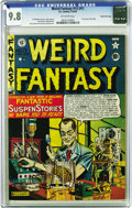 Golden Age (1938-1955):Science Fiction, Weird Fantasy #13 (#1) Gaines File pedigree 7/10 (EC, 1950) CGCNM/MT 9.8 Off-white pages. Like virtually all the early New ...