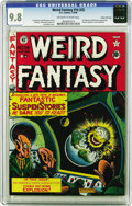 Golden Age (1938-1955):Science Fiction, Weird Fantasy 14 (#2) Gaines File pedigree 7/10 (EC, 1950) CGCNM/MT 9.8 Off-white to white pages. Highlights of this issue ...