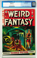 Golden Age (1938-1955):Science Fiction, Weird Fantasy #8 Gaines File pedigree 3/12 (EC, 1951) CGC NM+ 9.6Off-white to white pages. So that's what happens when ...