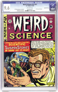 Golden Age (1938-1955):Science Fiction, Weird Science #12 (#1) Gaines File pedigree 4/9 (EC, 1950) CGC NM+9.6 Off-white pages. Here's a pedigreed copy of the very ...
