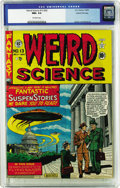 Golden Age (1938-1955):Science Fiction, Weird Science 13 (#2) Gaines File pedigree 7/10 (EC, 1950) CGC NM+9.6 Off-white pages. The UFO cover by Al Feldstein came t...