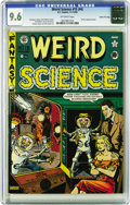 Golden Age (1938-1955):Science Fiction, Weird Science 15 (#4) Gaines File pedigree (EC, 1950) CGC NM+ 9.6Off-white pages. Everyone's favorite, the atomic explosion...