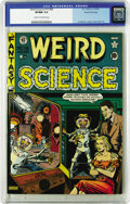 "Golden Age (1938-1955):Science Fiction, Weird Science 15 (#4) Gaines File pedigree 4/9 (EC, 1950) CGC VF/NM9.0 Cream to off-white pages. The Al Feldstein ""War of t..."