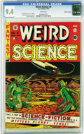 Golden Age (1938-1955):Science Fiction, Weird Science #6 Gaines File pedigree 7/10 (EC, 1951) CGC NM 9.4White pages. Al Feldstein channels a little Basil Wolverton...