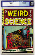 Golden Age (1938-1955):Science Fiction, Weird Science #8 Gaines File pedigree 4/12 (EC, 1951) CGC NM+ 9.6Off-white pages. Have we mentioned lately that these super...