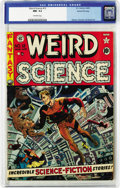 Golden Age (1938-1955):Science Fiction, Weird Science #12 Gaines File pedigree 3/11 (EC, 1952) CGC NM- 9.2Off-white pages. Wally Wood presents us with a great zero...