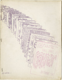 """Gamut #1 Fanzine (1960). An outstanding humor fanzine, this features a Poo parody """"Winnie the Phoo"""" with artwo..."""