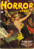 Pulps:Horror, Horror Stories V5#1 (Popular, 1937) Condition: FN+. Cover date isFeb/37. Sadistic bondage/torture cover, and inside are sto...