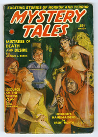 Mystery Tales (Pulp) V3#4 (Red Circle, 1940) Condition: VG/FN. Cover date Mar/40. Bondage/torture cover. Bookery's Guide...