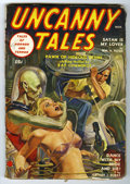 Pulps:Horror, Uncanny Tales (Pulp) V3#2 (Red Circle, 1939) Condition: VG/FN. Cover date Nov/39. Cover features space alien choking a bikin...
