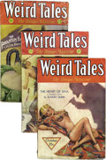 Pulps:Horror, Weird Tales (Pulp) Group (Popular Fiction, 1932). This lot consistsof issues from Jan/32 (VG); Feb/32 (Apparent GD/VG, cove... (Total:9 Comic Books)