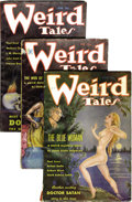 Pulps:Horror, Weird Tales (Pulp) Group (Popular Fiction, 1935). This lot consistsof issues from Jan/35 (GD/VG); Feb/35 (VG); Apr/35 (VG);... (Total:11 Items)