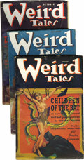 Pulps:Horror, Weird Tales (Pulp) Group (Popular Fiction, 1937). This lot consistsof issues from Jan/37 (VG+); Feb/37 (FN, Virgil Finlay's... (Total:13 Comic Books)