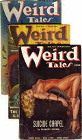 Pulps:Horror, Weird Tales (Pulp) Group (Popular Fiction, 1938). This lot consistsof the issues from Jan/38 (two copies, GD/VG and VG); Fe... (Total:12 Items)