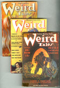 Pulps:Horror, Weird Tales (Pulp) Group (Popular Fiction, 1939). This lot consistsof issues from Jan/39 (GD); Feb/39 (VG); March/39 (VG); ... (Total:11 Comic Books)