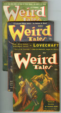 Pulps:Horror, Weird Tales (Pulp) Group (Popular Fiction, 1941-49). This lotconsists of issues dated March/41 (VG); May/41 (VG); Nov/41 (F...(Total: 8 Items)