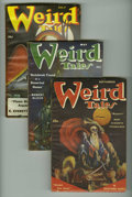 Pulps:Horror, Weird Tales (Pulp) Group (Popular Fiction, 1951). This lot consistsof issues from Jan/51 (VG); March/51 (Fair); May/51 (VG+... (Total:6 Comic Books)
