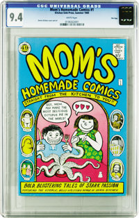 Mom's Homemade Comics #1 File Copy (Kitchen Sink, 1969) CGC NM 9.4 White pages. Here's one most Underground fans will wa...