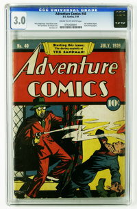 Adventure Comics #40 (DC, 1939) CGC GD/VG 3.0 Cream to off-white pages. An unrestored copy of this much sought-after com...