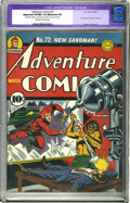 Golden Age (1938-1955):Superhero, Adventure Comics #72 (DC, 1942) CGC Apparent VF/NM 9.0 Moderate (P) Off-white to white pages. Simon and Kirby's first work f...