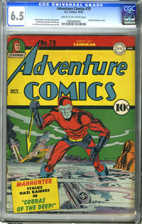 Adventure Comics #79 (DC, 1942) CGC FN+ 6.5 Cream to off-white pages. We see this issue with its classic cover far too s...