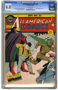 All-American Comics #30 (DC, 1941) CGC FN 6.0 Off-white pages. All you bad guys better not mess with Doiby -- especially...