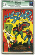 Golden Age (1938-1955):Superhero, All Star Comics #2 (DC, 1940) CGC Qualified FN/VF 7.0 Off-white to white pages. Green Lantern and Johnny Thunder made their ...
