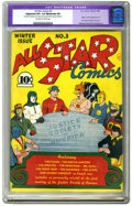 """Golden Age (1938-1955):Superhero, All Star Comics #3 (DC, 1940) CGC Apparent VF+ 8.5 Moderate (P) Off-white to white pages. """"A breakthrough concept, second in..."""