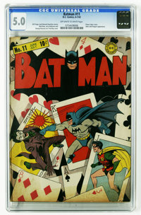 Batman #11 (DC, 1942) CGC VG/FN 5.0 Off-white to white pages. This Fred Ray/Jerry Robinson effort is one of the best Jok...
