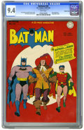 Golden Age (1938-1955):Superhero, Batman #32 Double Cover (DC, 1945) CGC NM 9.4 White pages. Double covers are always a nice find, and when such a book is tie...