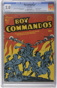 Boy Commandos #1 (DC, 1942) CGC GD 2.0 Off-white pages. After a smash debut in Detective Comics the Boy Commandos deserv...