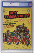Golden Age (1938-1955):War, Boy Commandos #7 Big Apple pedigree (DC, 1944) CGC NM+ 9.6 Cream to off-white pages. This sterling specimen is tied with the...