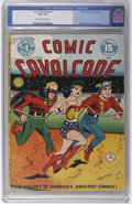 Golden Age (1938-1955):Superhero, Comic Cavalcade #1 (DC, 1942) CGC VF- 7.5 Off-white to white pages. Lots of characters packed into this 96-pager, including ...