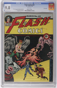 Flash Comics #63 San Francisco pedigree (DC, 1945) CGC NM/MT 9.8 White pages. As the story goes, the later Tom Reilly/Sa...