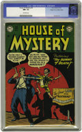 """Golden Age (1938-1955):Horror, House of Mystery #3 Mile High pedigree (DC, 1952) CGC NM- 9.2 Off-white pages. A """"Chucky""""-like cover by Bob Brown starts off..."""