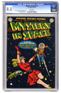 Golden Age (1938-1955):Science Fiction, Mystery in Space #1 (DC, 1951) CGC VF+ 8.5 White pages. CarmineInfantino is credited with this issue's cover, and the inter...