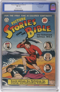 Picture Stories from the Bible Old Testament Edition #2 Gaines File pedigree 4/12 (DC, 1942) CGC NM 9.4 Off-white to whi...