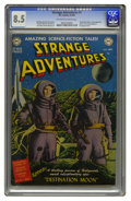 Golden Age (1938-1955):Science Fiction, Strange Adventures #1 (DC, 1950) CGC VF+ 8.5 Off-white to whitepages. DC's long-running science-fiction title began in gran...
