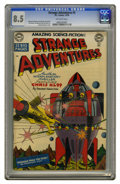 Golden Age (1938-1955):Science Fiction, Strange Adventures #3 (DC, 1950) CGC VF+ 8.5 Off-white pages.Writers almost never got cover billing on 1950s comics, but an...