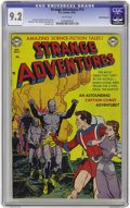 Golden Age (1938-1955):Science Fiction, Strange Adventures #13 White Mountain pedigree (DC, 1951) CGC NM-9.2 White pages. Men made of stone menace Captain Comet on...