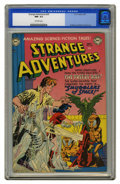 Golden Age (1938-1955):Science Fiction, Strange Adventures #20 (DC, 1952) CGC NM- 9.2 Off-white pages. Thewide-eyed little orange-skinned aliens on this cover conq...