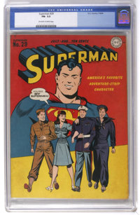 Superman #29 (DC, 1944) CGC FN- 5.5 Off-white to white pages. Lois Lane and some fighting men for the Army, Navy, and Ma...