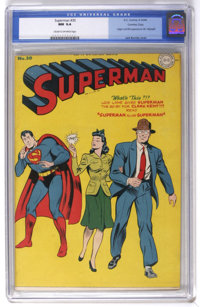 Superman #30 Crowley Copy pedigree (DC, 1944) CGC NM 9.4 Cream to off-white pages. That exasperating imp, Mr. Mxyztplk...