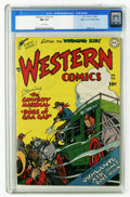 Golden Age (1938-1955):Western, Western Comics #1 Mile High pedigree (DC, 1948) CGC NM 9.4 Whitepages. DC's flagship Western title rode into town in 1948, ...