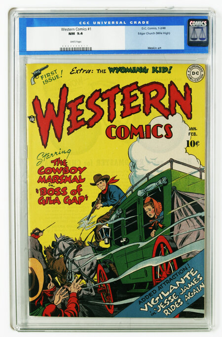 Western Comics #1 Mile High pedigree (DC, 1948) CGC NM 9.4 White pages. DC's flagship Western title rode into town in 1948, ...